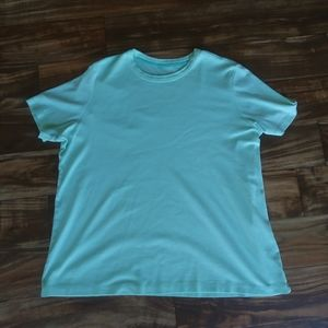 Land's end green shirt 1x